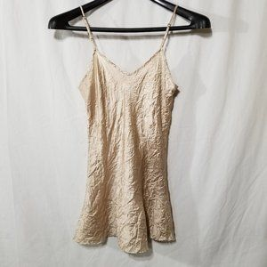 Eight Sixty silk cream crinkled camisole top